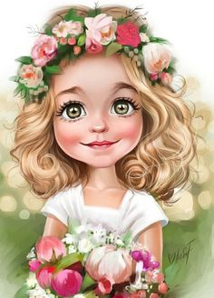 1 million+ Stunning Free Images to Use Anywhere Girly Drawings, Disney Drawings, Cartoon Kunst, Cartoon Art, Painting For Kids, Art For Kids, Cute Cartoon Girl, Digital Art Girl, Color Pencil Art