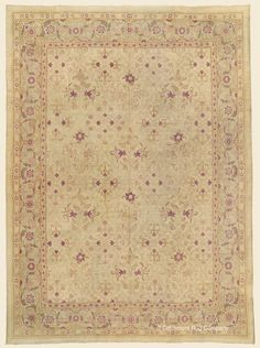 Antique Late Century High-Decorative Northern India Agra Rug x - Claremont Rug Company Agra, Persian Carpet, Persian Rug, Square Rugs, Rug Company, Room Rugs, Tribal Rug, Oriental Rug, Rugs On Carpet