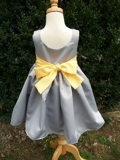 39 best sunflower themed flower girl dresses for michelles wedding grey and yellow satin flower girl dresses size 2 by mapletree2000 9000 mightylinksfo