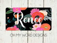 Personalized Car Tag-Personalized License Plate by OhMyWordDesigns