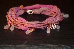 I am Loved Warrior Wrap with  Rose Quartz Rose by alccreations, $81.00