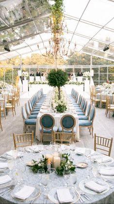 White Tent Wedding, White Wedding Decorations, Wedding Set Up, Long Table Wedding, Wedding Table Settings, Wedding Centerpieces, Backyard Tent Wedding, Elegant Backyard Wedding, Dream Wedding