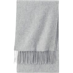 UNIQLO Cashmere Scarf (39 PLN) ❤ liked on Polyvore featuring accessories, scarves, fillers, bufanda, light gray, cashmere scarves, uniqlo, cashmere shawl, fringe shawl and fringe scarves