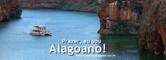 Canyons navegáveis no rio São Francisco, estado de Alagoas, Brasil. Curta nossa fanpage no facebook: www.facebook.com/destinoALAGOAS