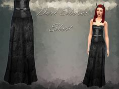 The Sims Resource: Dark Shines Set*Top, Skirt, Nails, Horns by Notegain • Sims 4 Downloads