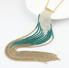 To find out about the Gold Silver Elegant Alloy Tassels Chunky Necklace at SHEIN, part of our latest Necklaces ready to shop online today! Tassel Necklace, Pendant Necklace, Necklaces, All About Fashion, Fashion Necklace, Necklace Lengths, Tassels, Elegant, Silver