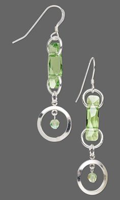 Earrings with SWAROVSKI ELEMENTS and Sterling Silver-Filled Drops