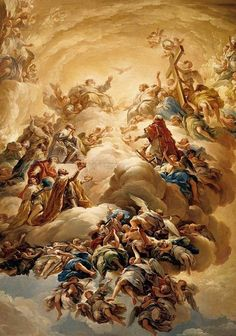 Adoration of the Holy Trinity by  Vicente Lopez y Portana, 1792,  Hear, O Lord, my voice with which I have cried to Thee, alleluia; my heart hath said to Thee: I have sought Thy face, Thy face, O Lord, I will seek: turn not away Thy face from me, alleluia, alleluia.Ps. 26. 7-9