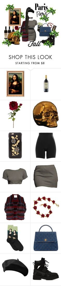 """""""FALL in love Paris"""" by pandatheod ❤ liked on Polyvore featuring Sia, Seletti, Dolce&Gabbana, SPANX, Sonia Rykiel, HOT SOX, Chanel, Hood by Air and fallgetaway"""