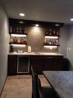 Installing a bar in your home is a great way to make sure that when you have company over everybody has a fun place to spend time together. A dedicated bar Home, Basement Bar, Bars For Home, Wet Bar Basement, Basement Decor, Basement Kitchenette, Home Bar Designs, Home Bar Decor