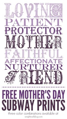 Free Mother's Day Su
