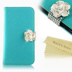 Mavis's Diary Bling Crystal Flower Fashion Leather Wallet Type Magnet Design Flip Case Cover for Samsung Galaxy S4 S Iv SIV S 4 Iv Gt-i9500 with Soft Clean Cloth (Blue) by Mavis's Diary, http://www.amazon.com/dp/B00DZIFV58/ref=cm_sw_r_pi_dp_N0Xfsb1QZY6KW