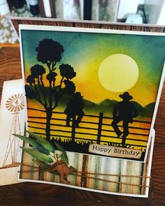 Harry Birthday, Birthday Cards, Australian Christmas Cards, Studio Cards, Men's Cards, Card Companies, Shaped Cards, Western Theme, Card Making Techniques