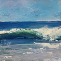 Painting of waves by Whitney Heavey Seascape Paintings, Oil Painting Abstract, Texture Painting, Landscape Paintings, Beach Paintings, Boat Painting, Painting Frames, Lighted Canvas, Wood Canvas
