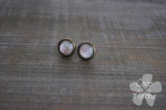 Stud earrings  Clous d'oreilles  Dentelle  Faux bois par CocoMatcha