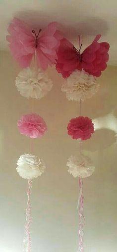 Ideas Diy Paper Crafts Decoration Pom Poms For 2019 Tissue Pom Poms, Tissue Paper Flowers, Paper Butterflies, Diy Flowers, Fabric Flowers, Beautiful Butterflies, Tissue Paper Crafts, Diy Paper, Papel Tissue