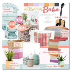 """""""Artisanal Boho Interior"""" by anna-anica ❤ liked on Polyvore featuring interior, interiors, interior design, home, home decor, interior decorating, Fatboy, Missoni Home, Pier 1 Imports and Dot & Bo"""