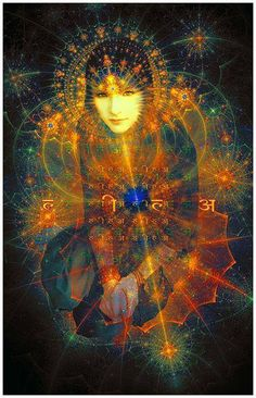 The soul harbors a fierce passion for the Divine. When we mistake the mundane for the spiritual—which we all do in one way or the other—we court addiction. Sacred Feminine, Divine Feminine, Psy Art, Goddess Art, Mystique, Visionary Art, Psychedelic Art, Sacred Geometry, Occult