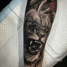 hawaiian tattoos lion arm tattoo, tattoos и Lion Arm Tattoo, Lion Head Tattoos, Hawaiianisches Tattoo, Mens Lion Tattoo, Lion Tattoo Design, Tattoo Designs Men, Hand Tattoos, Girl Tattoos, Sleeve Tattoos