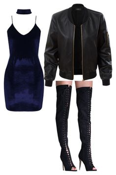 """""""Cute tumblr outfit"""" by unicorn-636 on Polyvore featuring Boohoo, Pilot and LE3NO"""