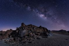 Milky way in the Teide  Night shot in Teide National Park Canary Islands. Spain…