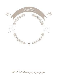 Ribbon Cameo - Free Printable Baptism & Christening Invitation Template | Greetings Island