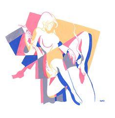 La sensualità illustrata da Kim Roselier | PICAME
