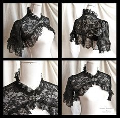 lovely goth classic Shrug Lace - Somnia Romantica by Marjolein Turin on Mode Steampunk, Steampunk Fashion, Victorian Fashion, Glamour Moda, Poncho, Gothic Outfits, Mode Style, Lolita Fashion, Gothic Lolita