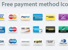 contains 17 popular payment methods and credit card icons such as MasterCard, PayPal, Visa, American Express, Western Union, Diners Club
