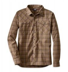 The calming lull of the harbor tide's ebb and flow or the howling wind in Whistler - the Tangent Long Sleeve Shirt excels in both worlds. With an excellent warmth to weight ratio, the hollowcore fabric blend wicks and dries quickly while maintaining a soft, cottony feel. The curved hem has a drop tail for added coverage