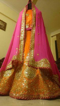 Gota Patti Lehenga, Rajasthani Dress, Rajputi Dress, Pakistani Wedding Outfits, Woman Clothing, Beautiful Moments, Mehendi, Indian Sarees, Indian Wear