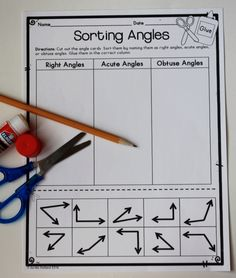 Types of Angles Sorting Activity - also has other geometry ideas and assessments for 2nd and 3rd grade