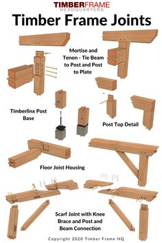 Timber Frame Garage, Timber Frame Cabin, Timber Framing Tools, Timber Wood, Timber Architecture, Joinery Details, Wood Frame Construction, Post And Beam, Woodworking Joints