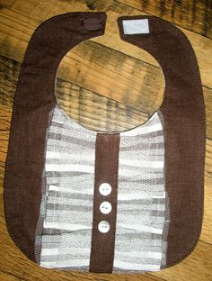 Handmade kids' bib. Linen for baby boy. Unisex