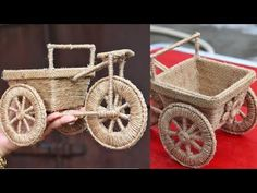 Jute carts are available now Get yours before it runs out of stock 😃 DM for . by and Crafts House Jute Crafts, Diy Home Crafts, Easy Diy Crafts, Craft Stick Crafts, Craft Ideas, Homemade Mobile, Woolen Flower, Flower Vase Making, Wind Chimes Craft