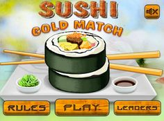 Play #SushiGoldMatch. You have just to swap ingredients for making sushi in the way they disappeared from the field. To achieve the next level, get the appropriate amount of ingredients. Don't waste your time – the game time is limited!