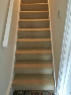 Carpet on basement stairs