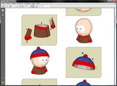 Stan, do South Park, em brinquedo de papel.