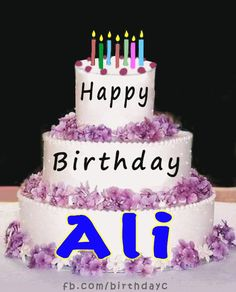 Happy Birthday Ali images gif