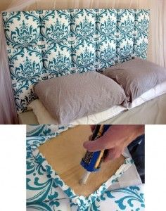 Not Crazy About The Pattern Of The Fabric, But I Image This Diy Headboard Would Be Beautiful With Some Velvet Fabric And Cording Around The Edges To Finish It Off