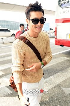 Airport Style: Super Junior Casual Outfit with Hats Leaving for SUPER SHOW 5 In Jakarta, Indonesia ~ Siwon