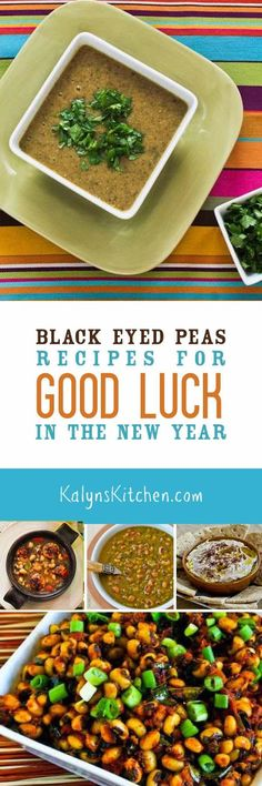 Here are all my favorite Black-Eyed Peas Recipes to bring you Good Luck in the New Year! I love to use frozen black-eyed peas in dishes like this, but you can also cook them from scratch or buy canned ones. [found on KalynsKitchen.com]
