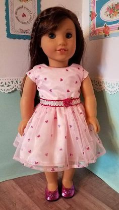 "Pink with Heart Cutouts Dress Shoes made for 18/"" American Girl Doll Clothes"