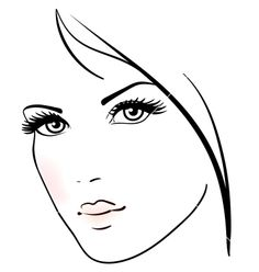 Beautiful woman face vector 1554162 - by ESSL on VectorStock®