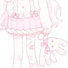 Anime Girl Pink, Kawaii Anime Girl, Anime Art Girl, Kawaii Icons, Kawaii Art, Cute Anime Profile Pictures, Cute Anime Pics, Kawaii Drawings, Cute Drawings