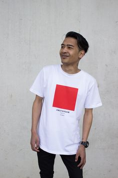 Amsterdam - The Ci-Tee collection is based on a google search of each individual city, and each colour code is based on the most frequent colour that comes up on google when googling. It's a fun way of showcasing cities around the world through a colour instead of a flag. See more Ci-Tee shirts at amesstore.se