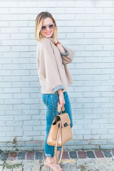 Winter Neutrals | Relaxed skinny jeans | Uptown with Elly Brown