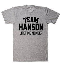 Team Name Lifetime Member T-Shirt HANSON
