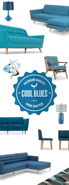 Joybird a Mid-Century Modern Online Furniture Company based out of L.A. Design at your fingertips, we deliver it for free. Our Joybird blues can be that little extra touch of POC to your living room or kitchen. Allow yourself to relax with this hue on a chaise, bench, sofa, or chair.