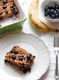 Baked Oatmeal with Blueberries  skinnytaste.com
